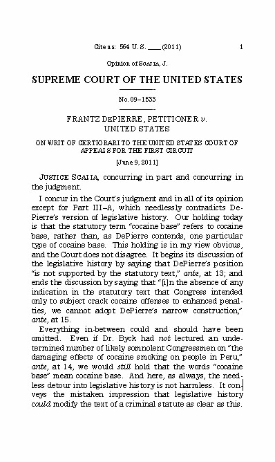 Scalia on legislative history apge 1